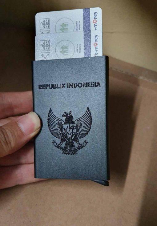 smart wallet atau dompet kartu print 3d timbul garuda indonesia